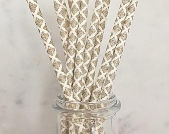 Danmask Gold Metallic Paper Straws (25)