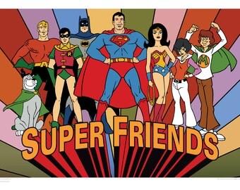 Super Friends Limited Edition Art Print