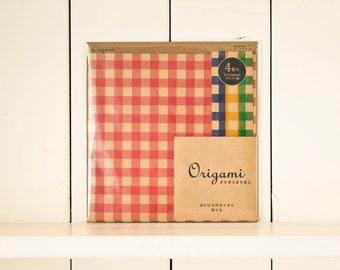 Japan Origami paper, Origami paper, Origami folding paper, Scrapbook paper pack, Origami paper sheets, Kraft check