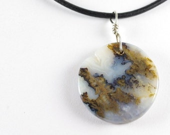 Graveyard Plume Agate Necklace