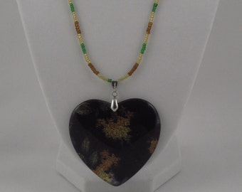 Earthy Heart Charm Necklace