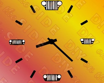 SVG Cut File Jeep Clock Time Instant Download