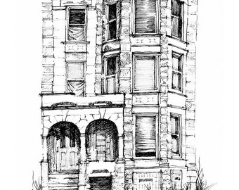 South Side Brownstone Fine Art Print