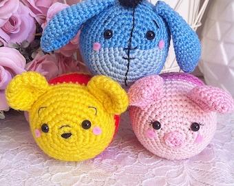 TSUM tsum Winnie l'ourson Porcinet et Eeyore Disney crochet amigurumi