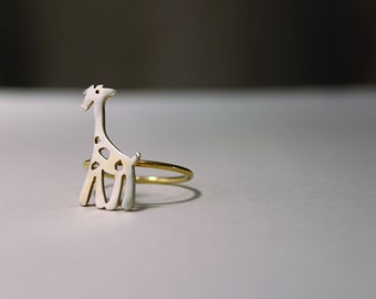 Ring Steriling Silver Little Giraffe