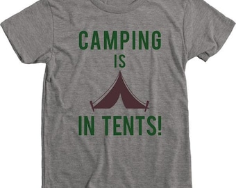 Camping Is In Tents Old School Kids T-Shirt