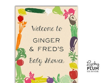Farmers Market Welcome Sign / Locally Grown Welcome Sign / Fruit Vegetable Welcome Sign / Farm Welcome Sign / Mason Jar Welcome Sign