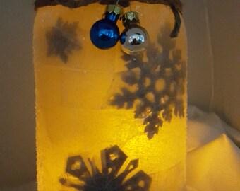 Snowflake Mason Jar Lantern