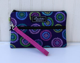 Padded Wristlet Mini Purse- Josser Periwinkle