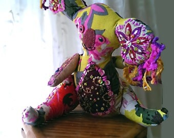 Carina. Koala, Original Design, Australiana, Vintage Embroidery, Tropical, Fluffy Ears, Pretty Girl, Boho