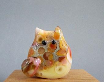 Kitten Bead Handmade Lampwork Focal - Phillip Itty Bitty FatCat