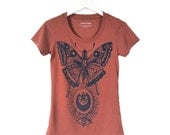Moth Tee, Clay Tri Blend Basic Tee
