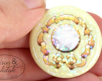 HOLOGRAPHIC Moon Crystal Power Make-Up Pin!
