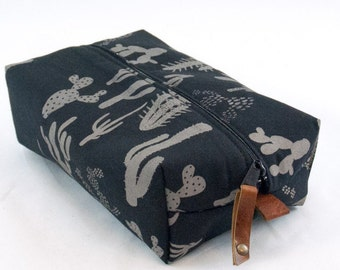 SALE! Large Dopp Bag in Cactus Print
