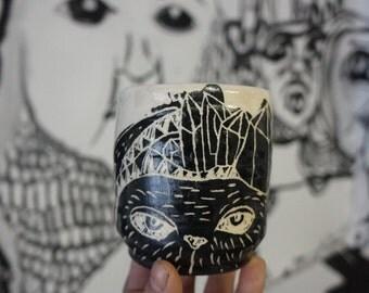 urban cat sgrafitto cup