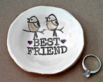 Best Friend Ceramic Trinket  Ring Bowl