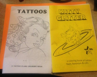TATTOOS Coloring Book 2-PACK