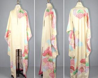 vintage kimono / silk robe / furisode / GUMDROP MOUNTAIN silk kimono