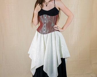 Ivory Brocade Pixie Skirt Renaissance Halloween Costume