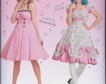 Simplicity 8127 Misses Retro Sundress Lolita Fantasy Cos Play Costume UNCUT Sewing Pattern