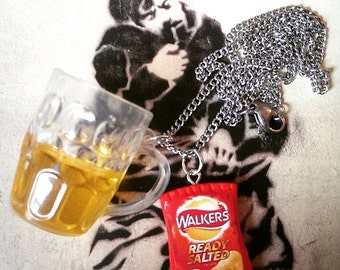 Pub - Pint & Crisps Necklace