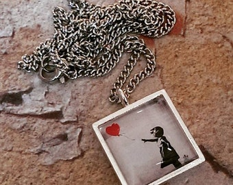 Banksy 'Girl with a Red Balloon' Necklace