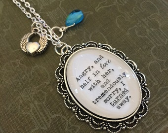 F. Scott Fitzgerald, The Great Gatsby, The Great Gatsby Quote, Literary Necklace, Literary Pendant, Charm Necklace, Literary Charm Necklace