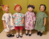 Easy Dresses for Hitty & Little MO Dolls - pattern #108