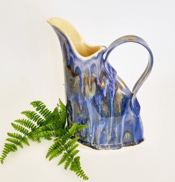 Handmade Stoneware Jug - Handmade Pottery Jug - Ceramic Jug - Pottery Jug - Handmade Pottery Pitcher - Handmade Pitcher - Iced Tea Pitcher
