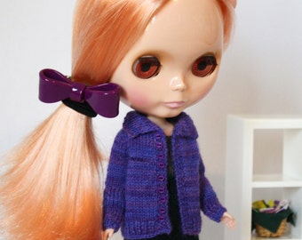 Blythe doll Long Cardigan Sweater knitting PATTERN - cardigan cardi for Neo Blythe - instant download - permission to sell finished items