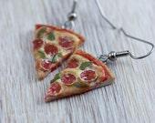 Salami Pizza Earrings