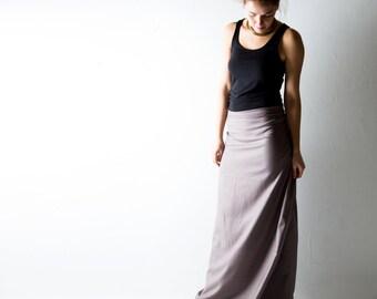 Wool skirt, Wrap skirt, Maxi Skirt, Long skirt, Grey skirt, Aline skirt, Boho skirt, Winter skirt, Maternity clothes, office clothing