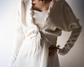 Bridal Jacket, Bridal Shrug, wedding jacket, wedding wrap, Ivory jacket, Wool coat, Winter wedding, White coat, oversized coat, women top