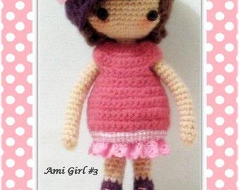 Crochet amigurumi girl