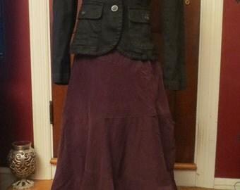 Vintage Ladies Black Denim Blazer Jacket XS Goth Grunge