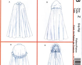 McCall's 4698 CAPES Costumes ©2004 English and Spanish Espanol Instructions