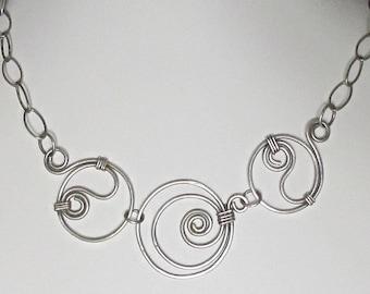 Triple Swirl Necklace