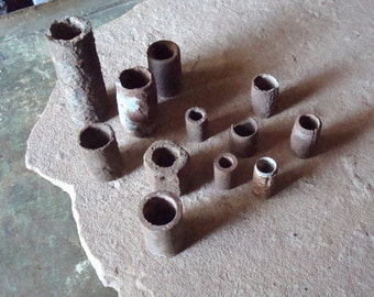 Rusty Metal Vintage Tube Pipe Pieces for Assemblage Altered Art Supplies, Welding Industrial Salvage