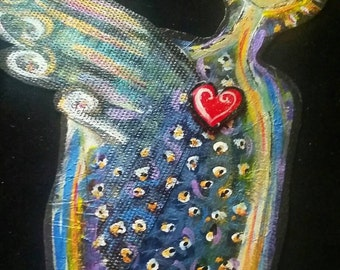 PeaceSwirl angel original cut out painting #9