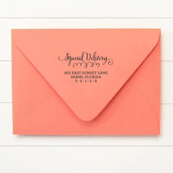 Custom Address Stamp / Return Address Stamp / Self Inking Return Address Stamp - SPECIAL DESIGN - Housewarming Newlywed Gift