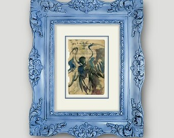 """Original Angel Watercolor Painting, on Antique Gospel Hymn Music Book from 1800s """"Calling All Angels No. 51"""" by Kathy Morton Stanion EBSQ"""