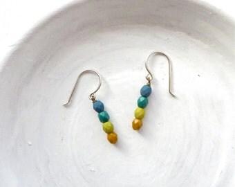 Small Earrings / Simple Earrings / Beaded Earrings / Dangle Earrings / Gift Idea for Her / Gift Under 15 / Gift for Teens / Stocking Stuffer