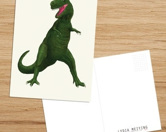 Postcard • T Rex, Dinosaur Illustration