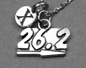 26.2 necklace, 26.2 charm, marathon necklace, runners necklace, marathon jewelry, running necklace, personalized, initial necklace, monogram