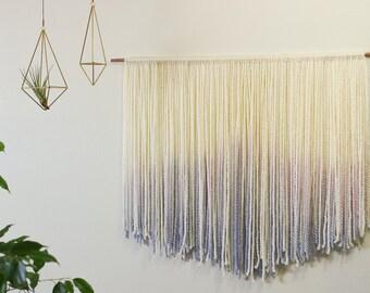 Dip Dyed Fiber Wall Hanging