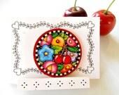 Mary Engelbreit Vintage Pin - Edith Lucas Designs Pin - Mary Engelbreit Brooch - Cherry Chick