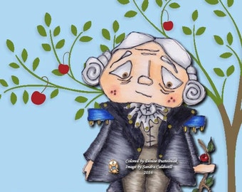 574 George and the Cherry Branch Digi Stamp