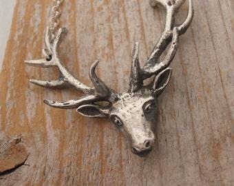 Super Duper Sterling Silver Deer Head with Antlers
