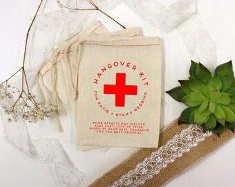 Wedding Favor Bags, Party Favor Bags, Hangover Kit, Bachelor Party Favors, Bachelorette Party Favors, 5 x 7 --64518-MB05-610