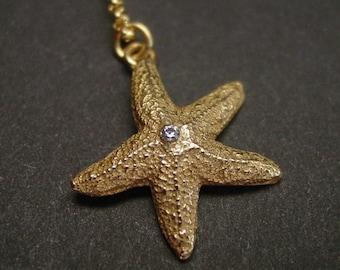 Starfish with cz necklace